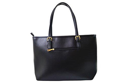 Miniprix sac classeur, Borsa tote donna Nero nero taglia unica Noir/Beige/Noir
