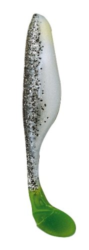 Bass Assassin Sole Sea shad-4 Pro Tasche, Salt and Pepper Silver Phantom/Chartreuse Tail, 6-Inch