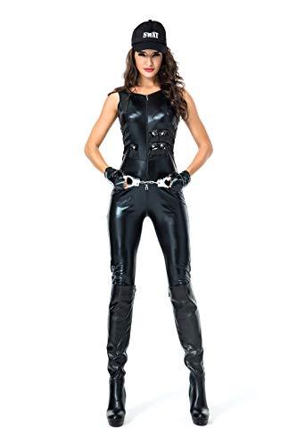 VENI MASEE Frauen Polizist/Polizistin/Lehrer Uniform Lackleder Overall