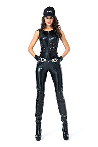 lizist/Polizistin/Lehrer Uniform Lackleder Overall Halloween Cosplay Kostüm ()