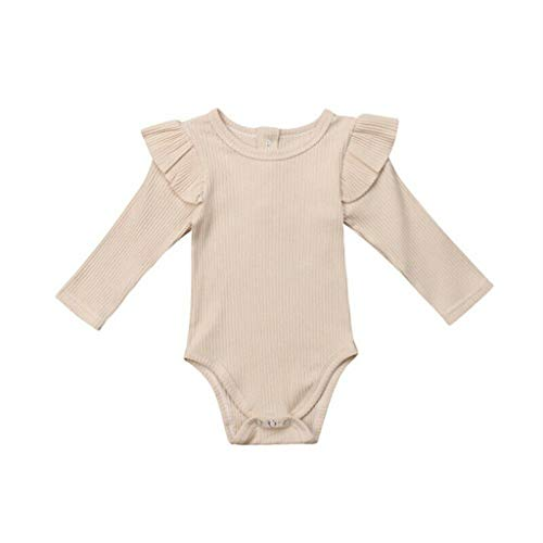 Baby Jumpsuit Toddler Long Sleeve Ruched Solid Romper Bodysuit Clothes