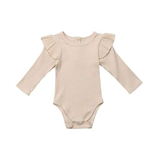 squarex ® Jungen Langarm Strampler Kleinkind Volltonfarbe Overall Baby Body Kinder Casual Strampler Mädchen Bequeme Overall Kleidung (Junioren Weißen Socken)