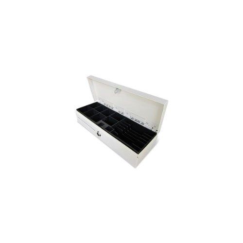 Phoenix Technologies PHCAJONBLANCOVERTI - Cajón portamonedas vertical automático, blanco / beige