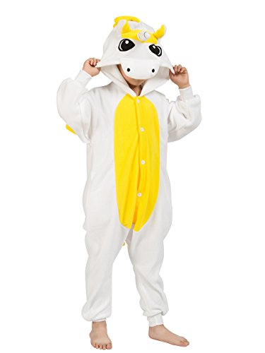 Pigiama Intero Bambina Unicorno Tuta Flanella Kigurumi Animale Tutina Costume Cosplay Pajama per Party Halloween Carnevale Sleepwear Romper Jumpsuit Onepiece Regalo di Compleanno Natale – Landove