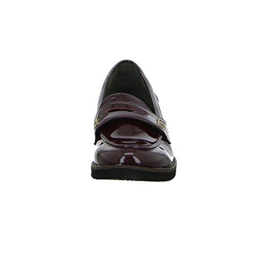living Updated A770-2 Damen Slipper Halbschuh eleganter Boden Rot (Bordeaux)