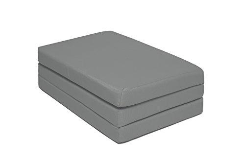 Zollner® materassino da viaggio per bambini/materassino per lettino da campeggio/materasso pieghevole per culla, nella misura 60x120x6 cm, colore antracite, in altre misure, serie kima
