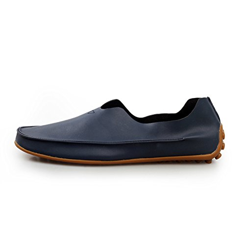 XiaoYouYu Hommes casual Courir Moccasin Slip-on Chaussures Conduire Bleu foncé