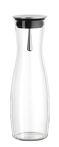 """Bohemia Cristal 093 006 104 SIMAX Karaffe ca. 1250 ml aus hitzebeständigem Borosilikatglas mit praktischem Ausgießer aus Edelstahl \""""Viva\"""""""