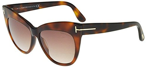 Tom Ford - NIKA FT 0523, Schmetterling, Acetat, Damenbrillen, BLONDE HAVANA/BROWN AMBER SHADED(53F), 56/14/140