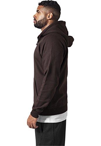 Urban Classics Herren Kapuzenpullover Zip Hoody brown