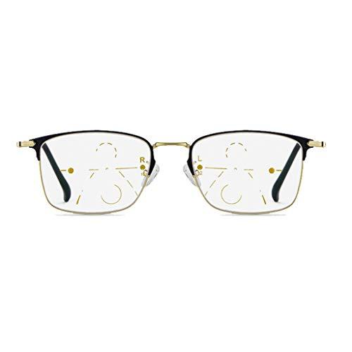 Axclg Reading glasses Multi-Fokus-Lupe Lesebrille, Nicht verschreibungspflichtiges Federscharnier Fern und Nah Sonnenbrille mit doppeltem Verwendungszweck, Strahlenschutz/UV-Schutz - für Herren/Damen - Nah Und Fern