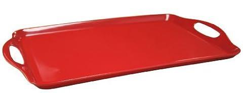 Calypso Basics, 07600, Melmaine Rectangular Tray, Red by Calypso Basics