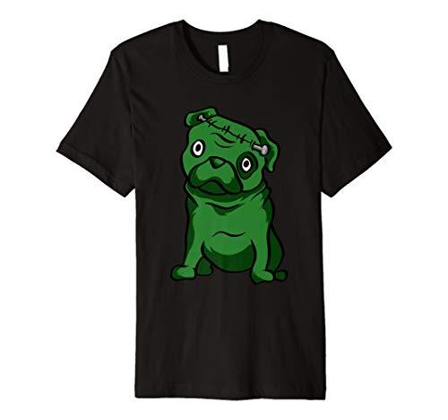 Lustiger Mops Frankenstein T-Shirt Süßer Halloween Shirt