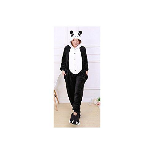 Imagen de ochenta animal carnaval disfraz cosplay pijamas adultos unisex ropa de noche panda xl talla 173 176cm  alternativa