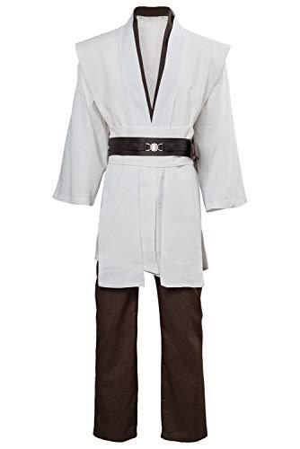 Disfraz De Pelicula para Hombre Chaqueta De Disfraces Cinturon Tops Pantalones Conjuntos Deluxe Tunica Blanca Cosplay De Halloween para Adultos, XS