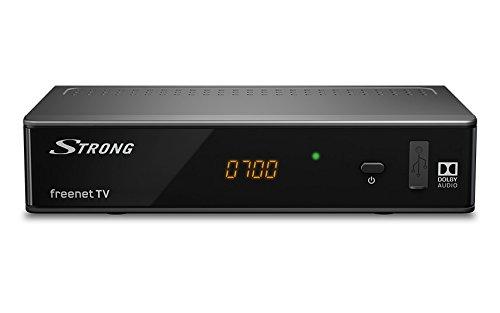 STRONG SRT 8541 digitaler terrestrischer HD DVBT2 Receiver [H.265, HDMI, Irdeto: geeignet für freenet TV] - [HDMI, SCART, USB, Ethernet, digitaler Koaxialausgang, FULL HD Antennen-Receiver] - schwarz