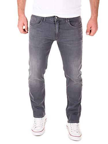 Yazubi Jeans Herren Akon Slim - Jeans Hosen für Männer - Schwarze Vintage Denim Stretch Hose Jeanshose Regular, Grau (Tornado 183907), W36/L32