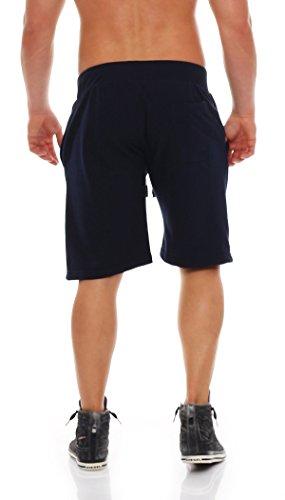 Gennadi Hoppe Herren Sweat Short Cotton Sweat Short Kurze Hose Bermuda Sweatpant Sport Shorts Blau