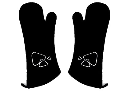 barbecook Grillzubehör, Paar lange Grill-Handschuhe, schwarz, 40 x 3 x 20 cm, 2230702000