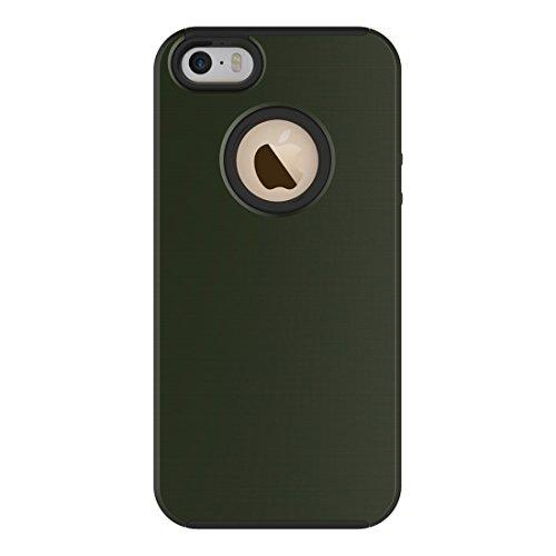 Einfache gebürstete Textur 2 in 1 PC + TPU Kombination Schutzhülle für iPhone 6 Plus & 6s Plus by diebelleu ( Color : Dark blue ) Army green