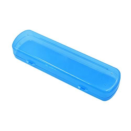 Ogquaton Caja de Cepillo de Dientes portátil Estuche de Almacenamiento para el Cepillo de Dientes de Viaje Suministros de Viaje para Viajar Camping Uso en el hogar 1pcs Azul