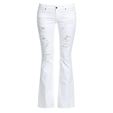 Lamiss - Jeans - Femme - blanc cassé - 63