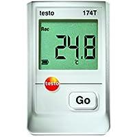 Testo 0572 1560 174T - Mini data logger de temperatura, 1 canal, incluye soporte de pared y calibración, color blanco