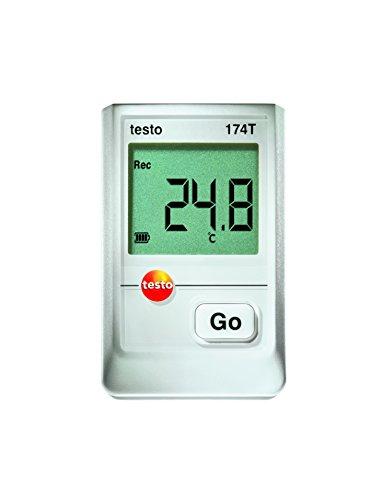 Testo 0572 1560 174T Mini-Datenlogger, 1-Kanal, inklusive Wandhalterung, Batterie (2 x CR 2032 Lithium) und Kalibrierprotokoll