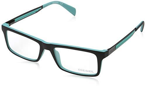 Diesel brille dl5050 005 52 montature, nero (schwarz), 52.0 uomo