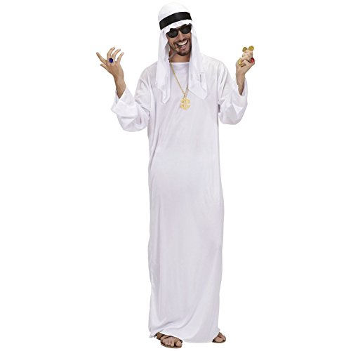Kostüm Fürsten - Arabischer Scheich Größe L mit Kette und Dollaranhänger Kostüm Emir Karnevalskostüm Fürst