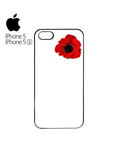 Poppy Day Never Forger Flower Mobile Phone Case Cover iPhone 5c Black Blanc