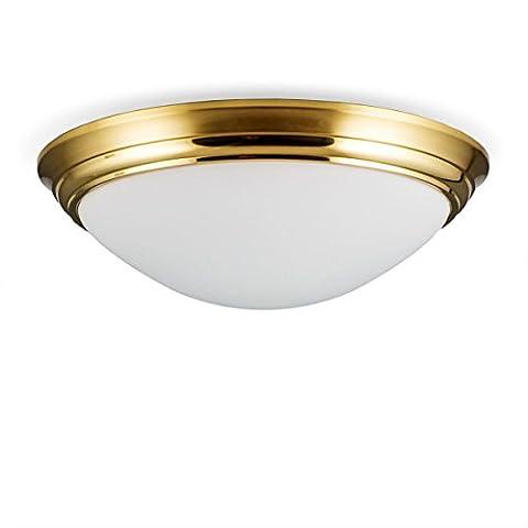 Helios Leuchten 146602 Deckenleuchte Deckenlampe Lampe Leuchte Bauhaus, echt Messing, geeignet für LED