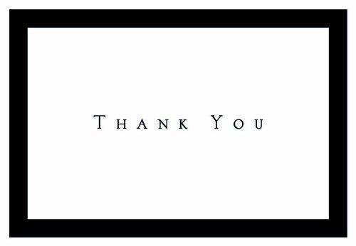 Masterpiece Studios 1472089 Tuxedo Schwarz Danke-Packung mit 50 Karten 50 Umschl-ge
