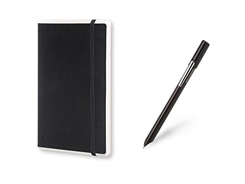 Moleskine Smart Writing Set Notebook e Pen+ Smartpen, Taccuino con Copertina Rigida Nera Adatta all'Uso con Pen Moleskine+ , Colore Nero, Fogli Puntinati