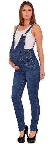 by-tex Damen Jeans Schwangerschaftshose Umstandshose Latzhose Jeans für Schwangerschaft Maternity J294