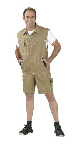 Canvas-baumwoll-shorts (PLANAM Shorts Canvas - mit Oberschenkeltasche - khaki/schwarz - Größe: M)