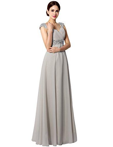 Clearbridal Damen Lang Ballkleid Abendkleid Brautjunfernkleid Elegant Glitzer mit Träger CSD179...