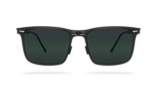 ROAV - Faltbare und dünne Sonnenbrille mit polarisierenden Gläsern und Edelstahlrahmen - Sie können sie immer bei sich haben, da sie überall passen (ECHO, MATTE BLACK/G15)
