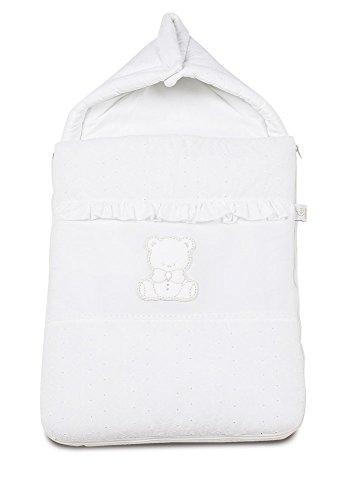 ITALBABY Amore Baby Nest für Kinderwagen, weiß (Jungen Personalisierte Schlafsack)