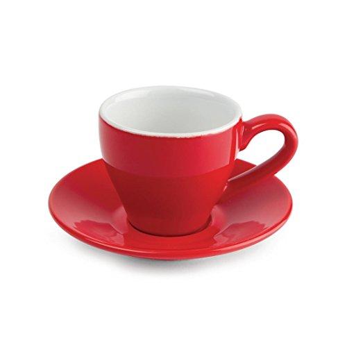 Olympia gk070café taza de café, 100ml, 3,5ml, rojo (Pack de 12)
