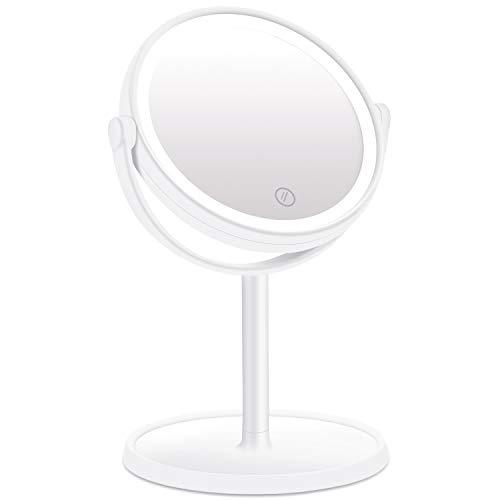 KINLO Kosmetikspiegel mit Beleuchtung Make-up Standspiegel LED Reise Spiegel Tischspiegel...