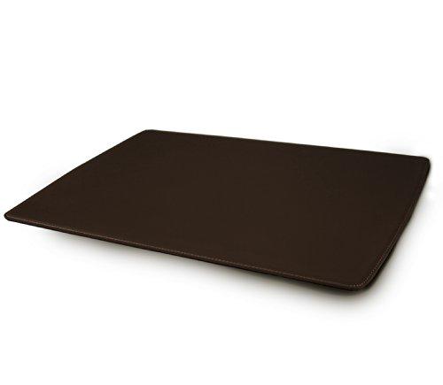Nottebrava - Play P - Vade de sobremesa en cuero marrón regenerado, hecho a mano, Made in Italy