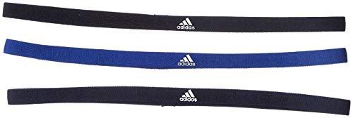 adidas Erwachsene 3 Pair Pack Stirnband, Black/Mystery Legend Ink, One Size (Pack Stirnbänder Schwarz)