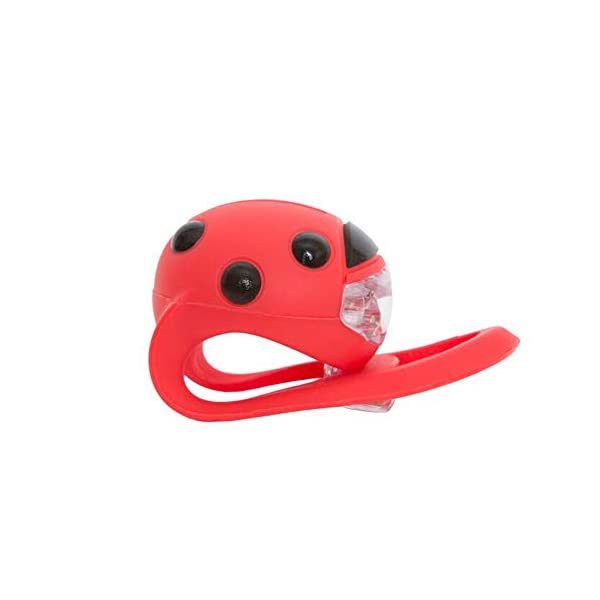 Scooti Lights Red with Black Spots Hippychick Fun ladybird design Simple to fit - loops around any buggy or scooter bar and secures with a hook Hard wearing - the stretchy silicone rubber strap is sturdy and designed so it perfectly fits all bars 3
