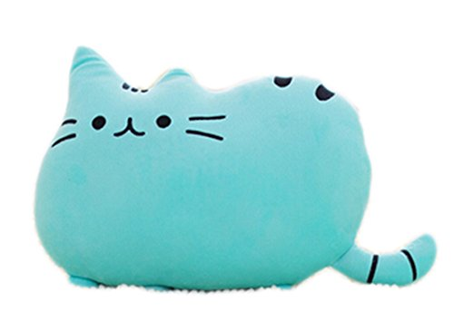 VWH Weichem Plüsch Süße Katze Form Kissen kissenpolster Sofa Spielzeug Wohnkultur 5 Farbe (Blau)