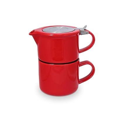 Théière égoïste Tea for one rouge avec passoire théière 347-red