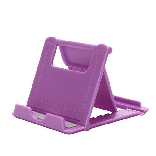 "KOKOUK Cell Phone Stand, Tablet Stand Universal Anti-Slip Pocket Desktop Holder Cradle for Tablets(6-11""),iPhone X/8/7 Plus/7/6s/6/5/4 SE iPad Mini, Nintendo Switch Samsung Galaxy (Purple)"