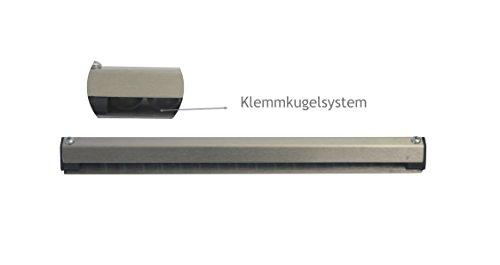 Kerafactum® - Profi Bonschiene Klemmleiste Notizleiste Bonleiste Leiste für Notizzettel oder Rezepte aus Edelstahl matt glänzend