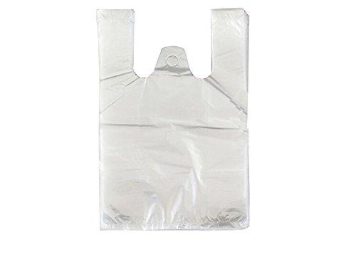 30-mikron-tasche (00 transparente Medium Größe Tasche Weste Stil Tragetaschen für Lebensmittel Einkauf 22,5 x 40 cm 30 Mikron beidseitig)
