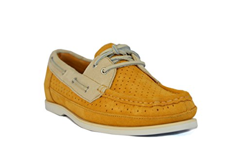 Rockport Womens BONNIE Perforated Boat Shoes Lace-Ups Butterscotch V73385 (UK 5.5)